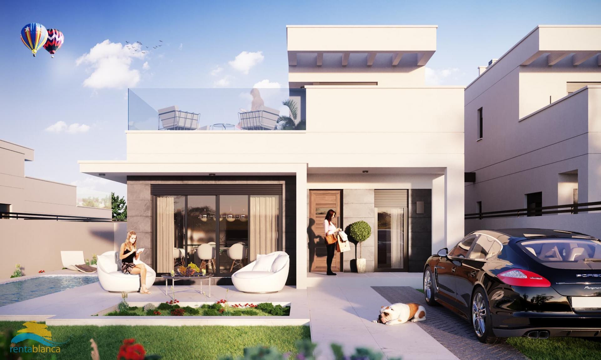 Nieuwbouw - modern half vrijstaande villa - Oasis La Marina - Rentablanca